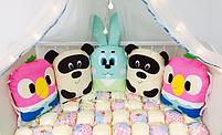 Бортики в дитячу овальну ліжечко - Звірятка, фото 2