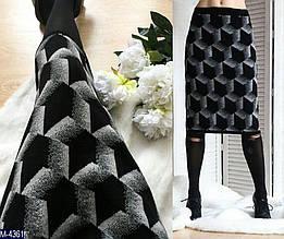 Женская юбка теплая шерстянная миди (ботал)