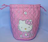 Детский белый рюкзак для девочек Hello Kitty 23*24 см, фото 5