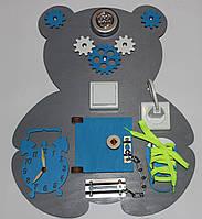 Развивающая доска Бизиборд Мишка