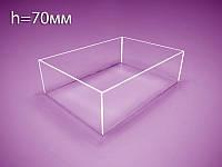 Коробка, контейнер из оргстекла А4 (Н=70 мм)
