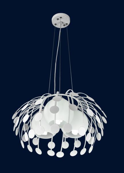 Подвесная люстра на три лампы 7073052-3 БЕЛЫЙ