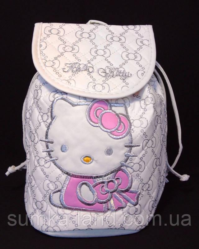 Детский белый рюкзак для девочек Hello Kitty 23*24 см