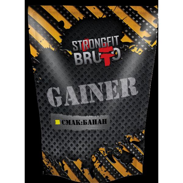 Гейнер Strong Fit Brutto - Gainer (909 грамм) banana/банан