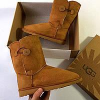 Теплые коричневые угги женские, зимняя обувь Ugg