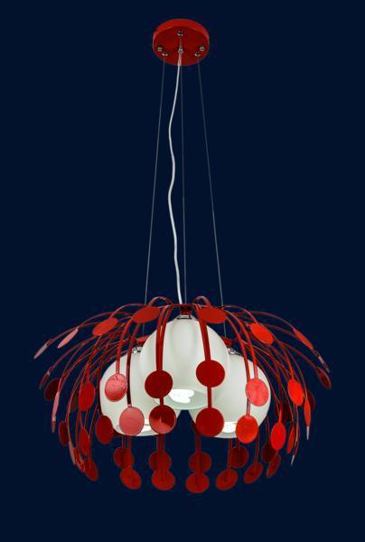 Подвесная люстра красного цвета 7073052-3 КРАСНЫЙ