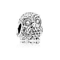 Шарм «Очаровательные совы» из серебра 925 пробы, фото 1