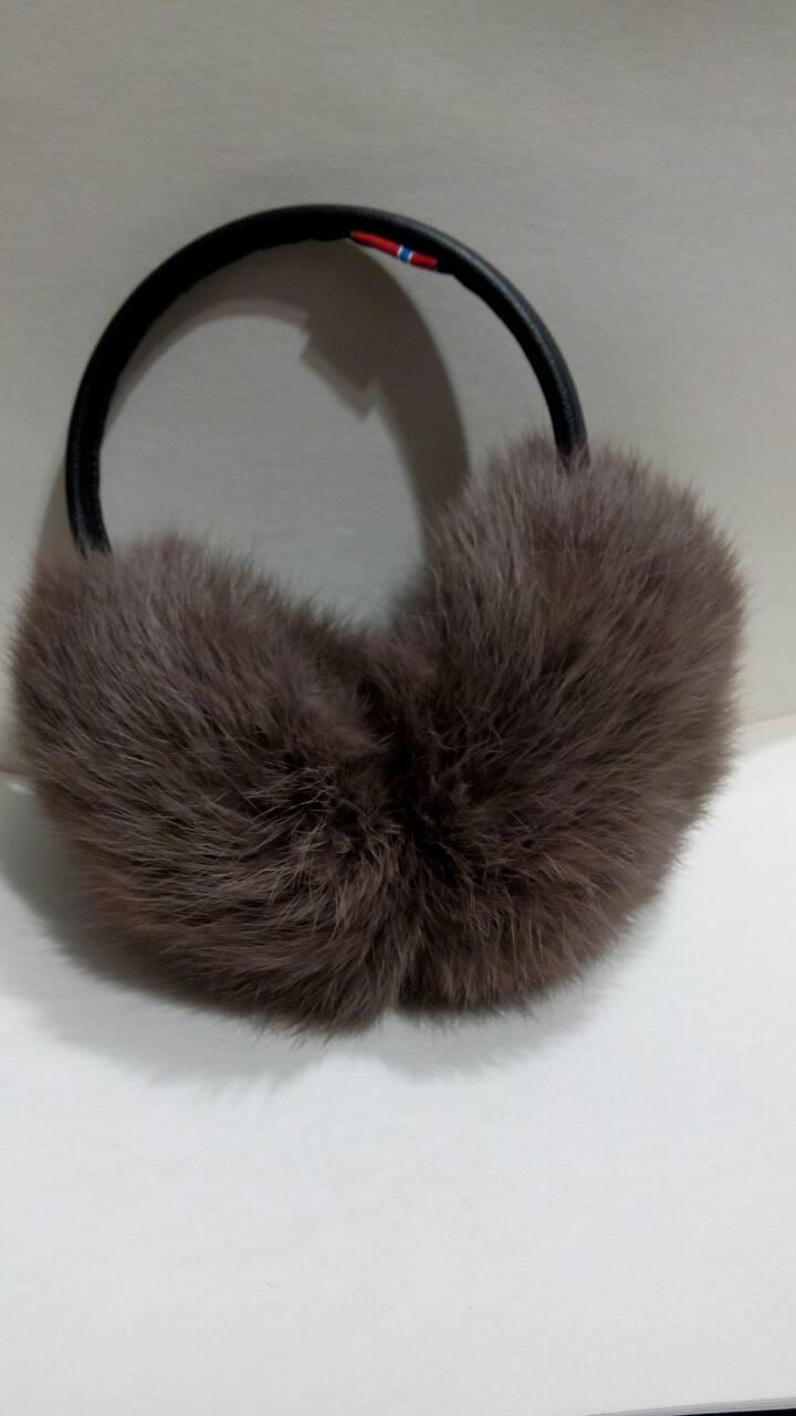 ... Меховые наушники из натурального меха кролика d8aa199a7800c