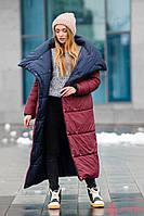 Стеганное зимнее пальто-одеяло с потайными кнопками