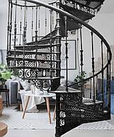 Чугунная винтовая лестница, литая, фото 1