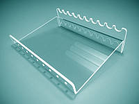 Подставка для ручек из оргстекла на 10 шт. 160х45х120 мм (Толщина акрила : 1,8 мм; )