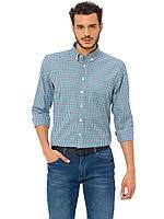 Мужская рубашка белая LC Waikiki / ЛС Вайкики в сине-голубые полоски