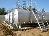 Монтаж топливных резервуаров