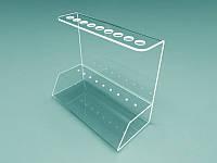 Подставка для ручек из оргстекла на 9 шт. 160х130х70 мм (Толщина акрила : 1,8 мм; )
