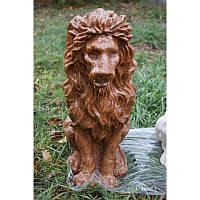 Скульптура из мрамора Лев сидит ср.