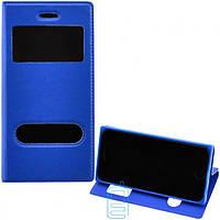 Чехол-книжка Flip Cover с окном Samsung A7 2015 A700 синий