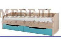 Кровать одинарная с ящиками модульная детская Сити 1 ф-ка SV Мебель
