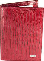 Кредитница Petek 1042, Красный, Рептилия, Матовая, Кожа, фото 1
