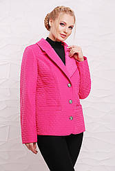 Женский демисезонный жакет 48203 розовый