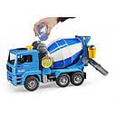 Игрушка - бетоновоз MAN TGA синий, М1:16 02744, фото 2