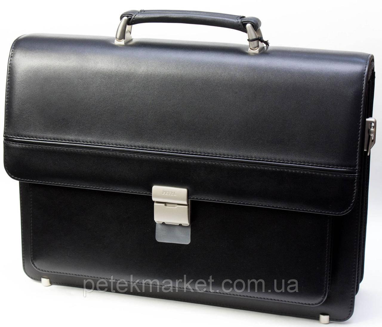 Кожаный портфель Petek 854