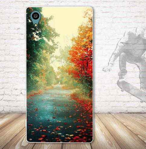 Чехол с картинкой (силикон) для Sony Xperia L1 g3312 Осень