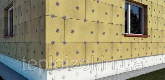 Утепление стен минеральной базальтовой ватой