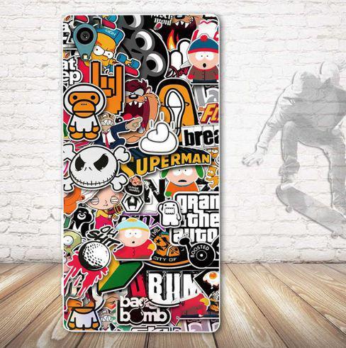 Бампер оригинальный чехол tpu для Sony Xperia L1 g3312 с картинкой Мульт герои