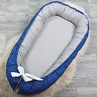 """Кокон для новорожденного, позиционер, кроватка для мальчика """"Гороховые мечты"""""""