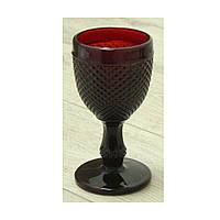 """Бокал для вина бордовый 150 мл """"Грааль"""" ( набор бокалов )"""