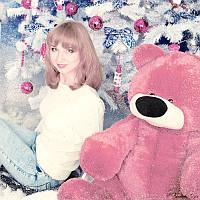 Большой плюшевый медведь Бублик 120 см (розовый), фото 1