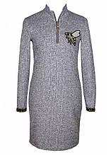 Вязаное платье для девочки Пчелка