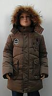 Зимняя куртка для мальчика удлиненная