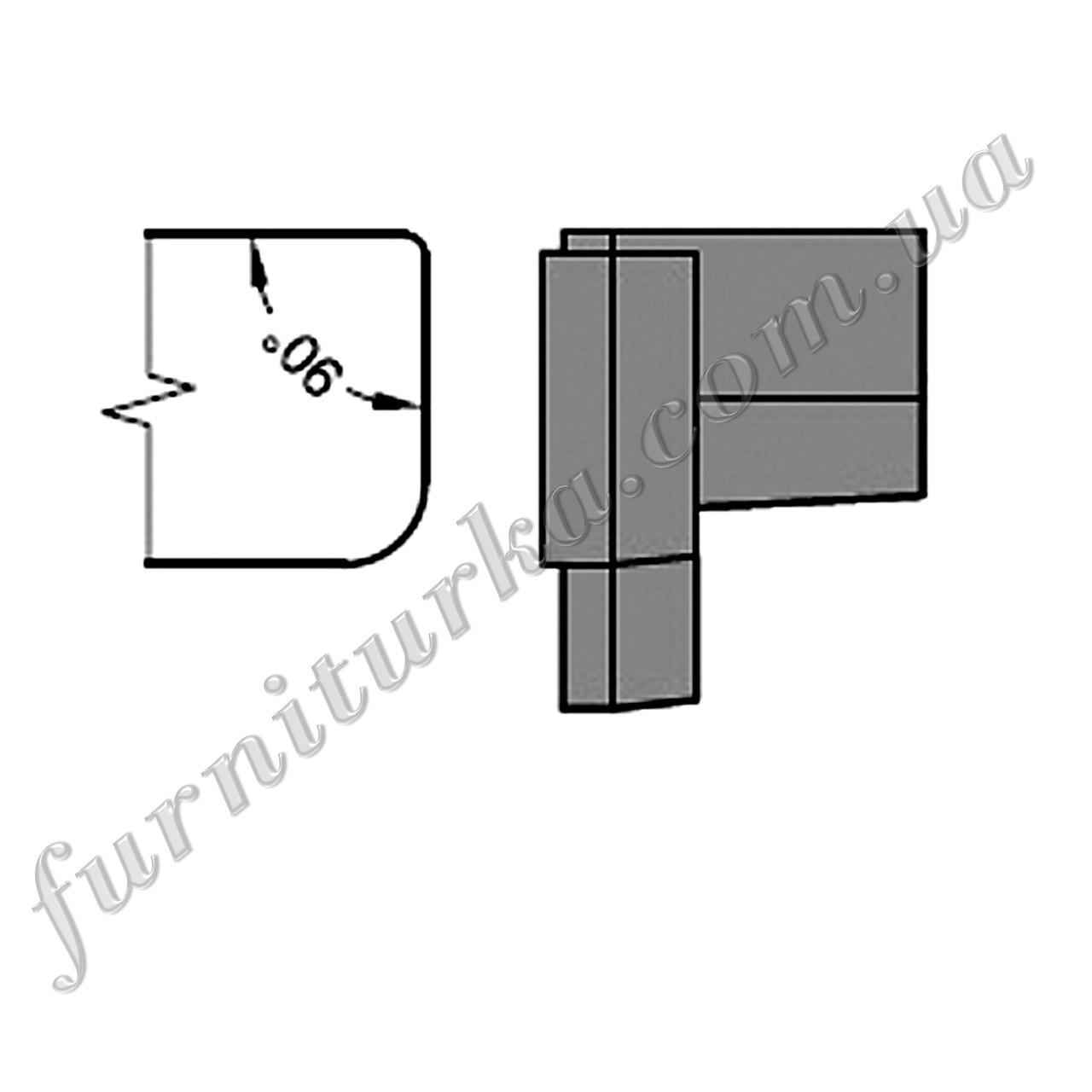Торцевая заглушка ZM 22/34 коричневая (С34 - braun)