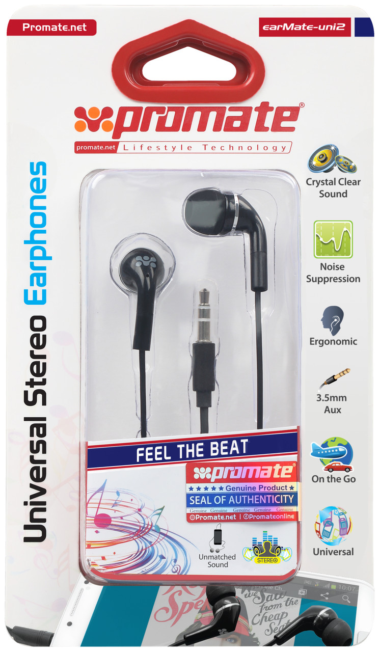 Наушники earMate-uni2 Black
