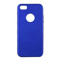 Чехол силиконовый Aspor Soft Touch для iPhone 5s синий металлик