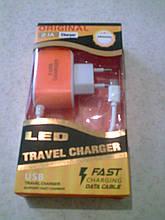 Адаптер питания 2.1A на 3 USB порта + micro-USB кабель