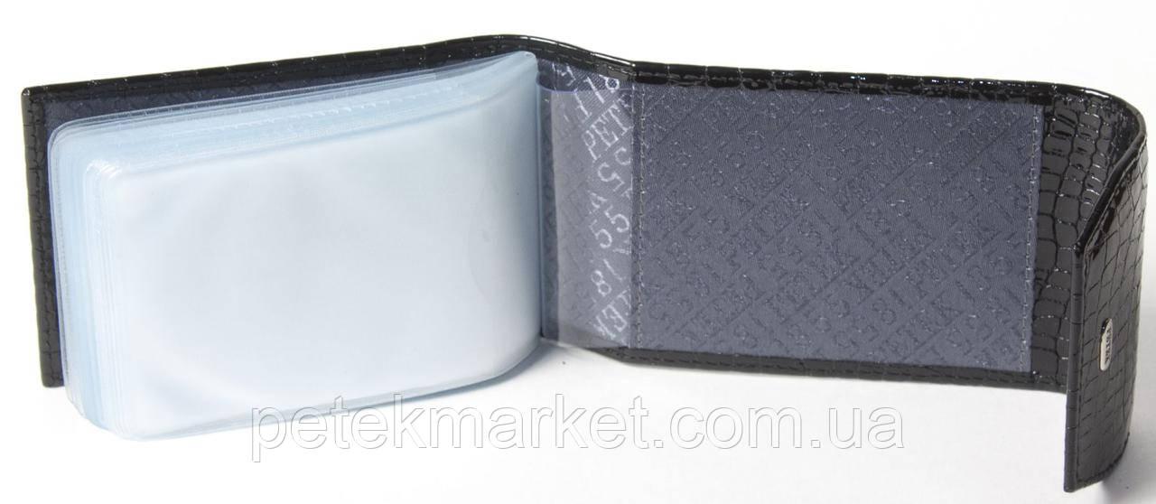 Кожаная кредитница (портмоне для визитных и пластиковых карточек) Petek 1114