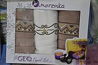 Подарочные наборы полотенец (3-ка)