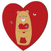 """Панно-сердце """"Sweety animal"""", 36 см (7 фото)"""