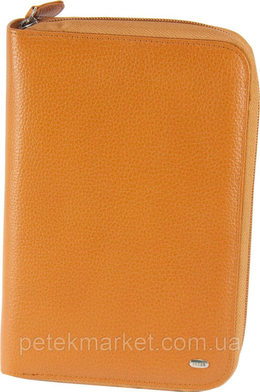 Кожаный органайзер PETEK 1033 Оранжевый (1033-46B-24)