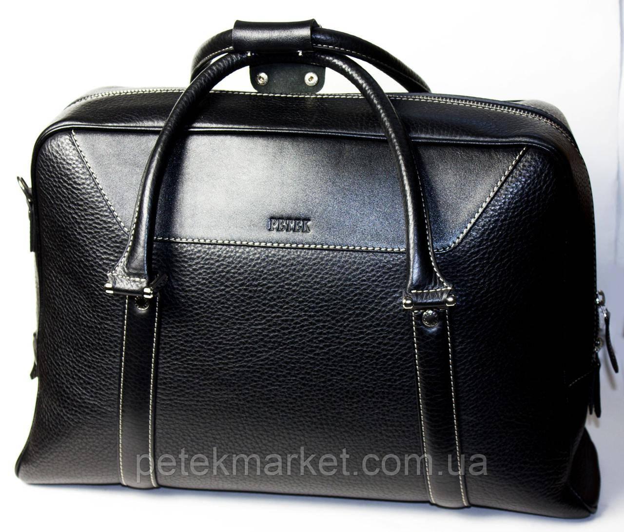 Кожаная мужская сумка Petek 3909