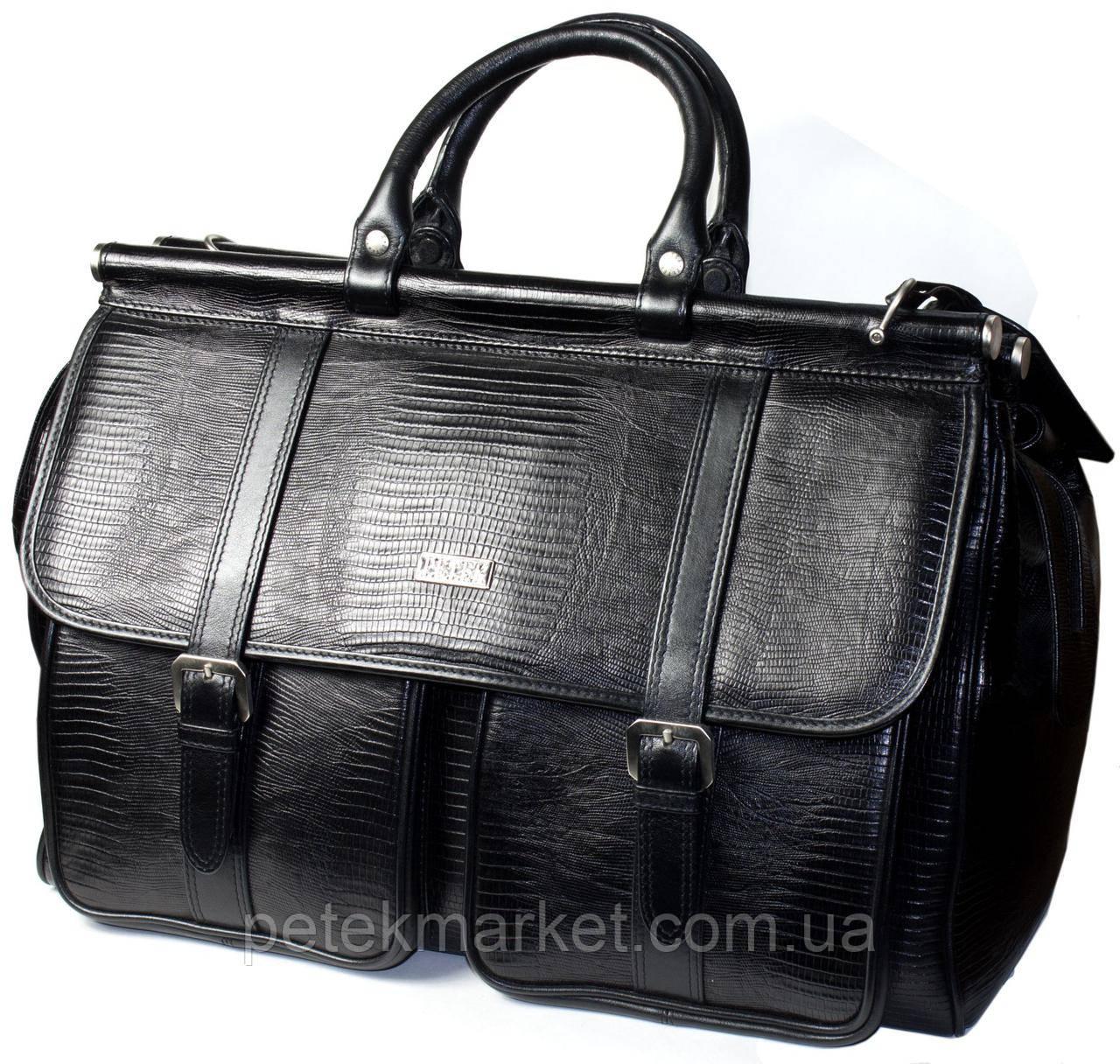 Кожаный саквояж Petek 3815