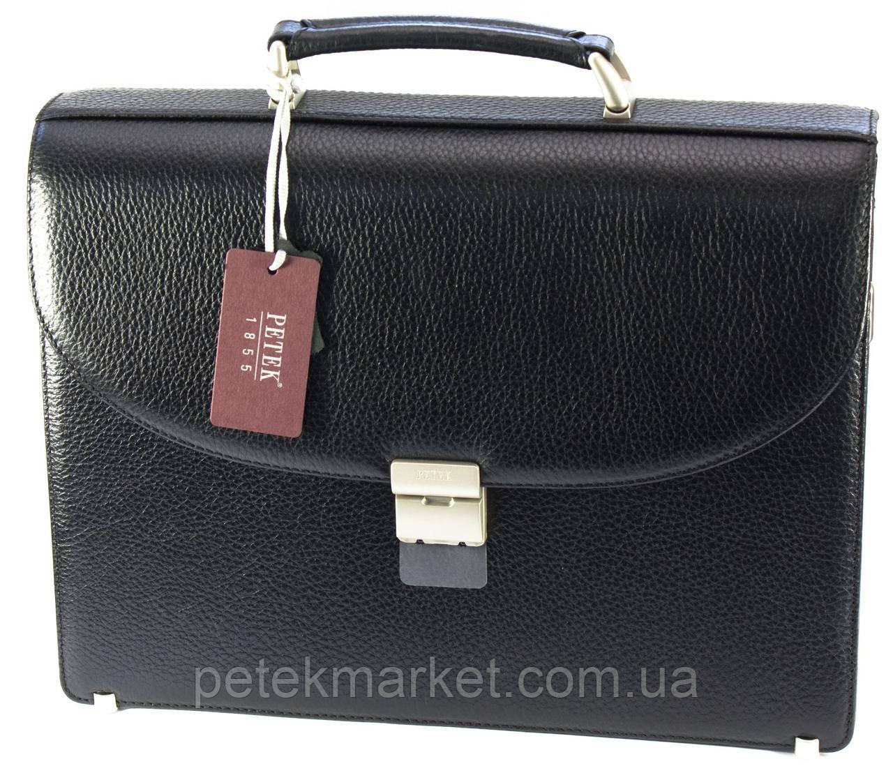 Кожаный портфель Petek 844