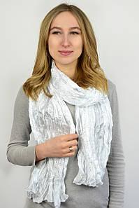Разноцветный шарф атласный белый