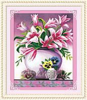 """Набор для рисования камнями """"Розовые лилии"""""""