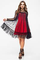 Модное платье Фиеста красный