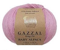 Пряжа Gazzal BABY ALPACA розовый №46007 для ручного вязания