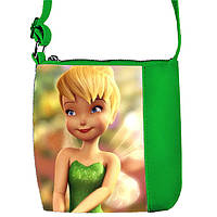 Зеленая сумка для девочки с принтом Фея Динь Динь