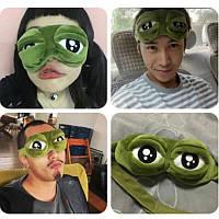 Маска для сна: глаза лягушки Пепе!